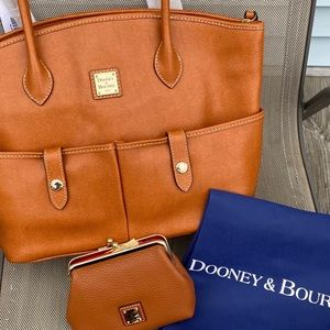 Dooney&Bourke Large Crescent Tote & Kisslock Purse